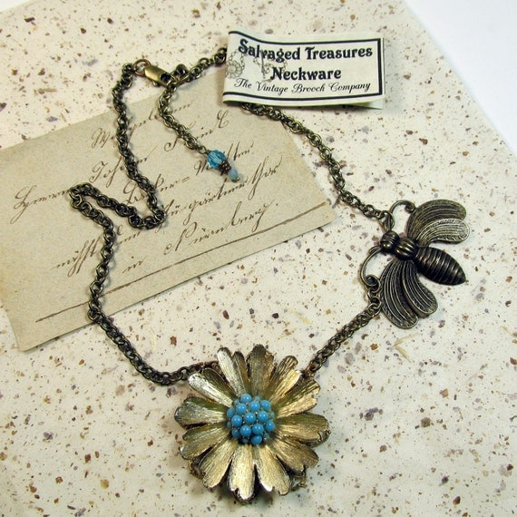Insect Upcycled Necklace This Necklace is Really Bugging Me SALE