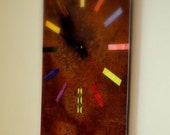 Cool Rusted Steel Clock with Magnets