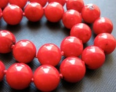 Rustica...Knotted Red Bamboo Coral Necklace