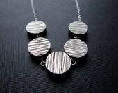 Alder....Woodgrain Sterling Silver necklace