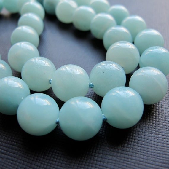 Amazonite Hand Knotted sterling Silver Necklace-Madison