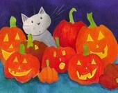 Pumpkin aceo art card