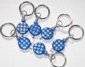 Sky Blue Daze Snag Free Ring Stitch Markers