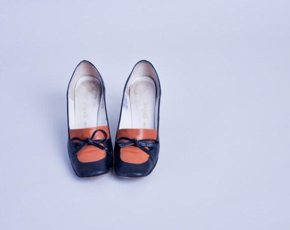 colorblock bow pilgrim loafers / andrew geller pumps / 8.5