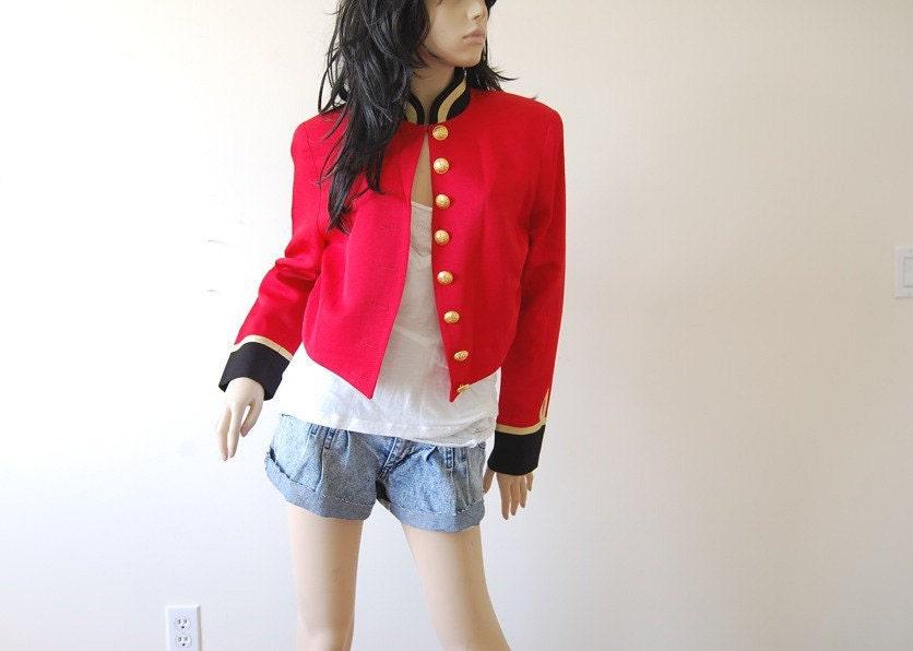Womens Red Military Coat Vp6gok