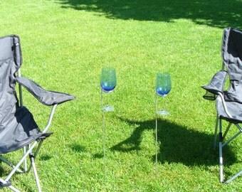 Set of 2 wine glass holders