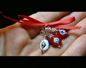 Anti-Evil Eye Glass and Sterling Stitch Markers (and Knitting Mojo Protectors, maybe)