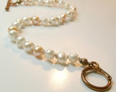 Big-Girl Girl Pearl Bracelet with Copper Clasp