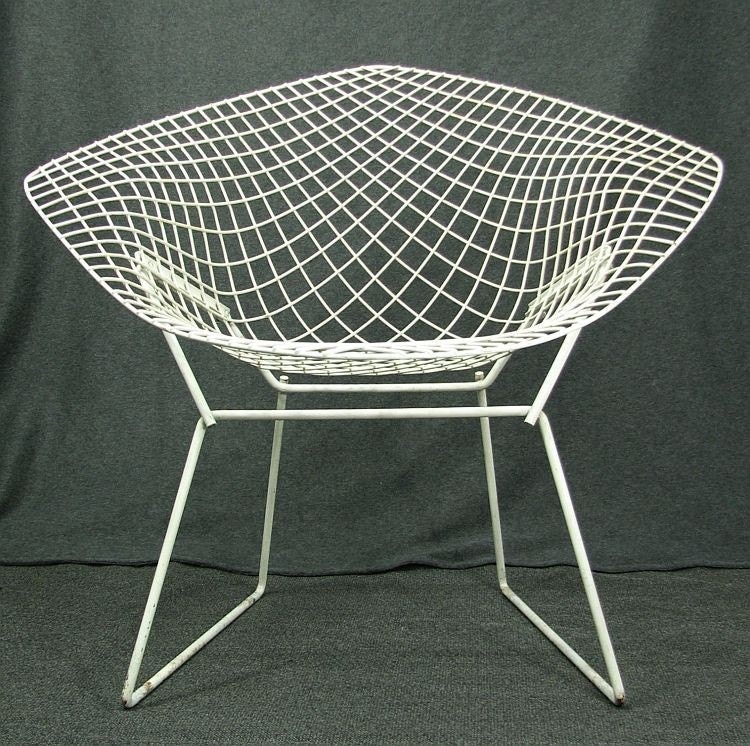 harry bertoia diamond chair vintage mid century eames era. Black Bedroom Furniture Sets. Home Design Ideas