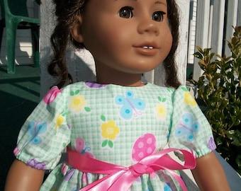 Green Easter Dress for the American Girl