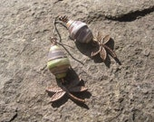 Copper Dragon Fly BeadForLife Earrings