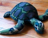 Camo Sea Turtle with coco brown shell