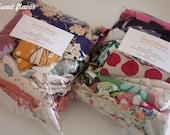 Japanese Cotton and Cotton Canvas Fabric Scraps - Assortment M size (15)