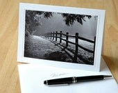 5x7 Fine Art Note Card with Signed Photograph, Morning Stroll
