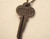 Steampunk DREAM Skeleton Key Necklace, SAN-385