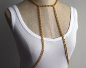 Leslie Body Chain Harness, Gold