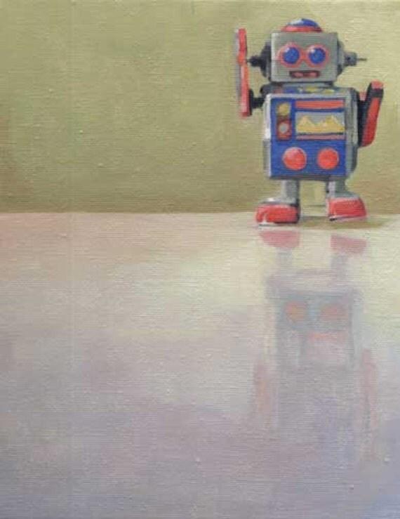 Do the Robot - 8x10 Original oil Painting