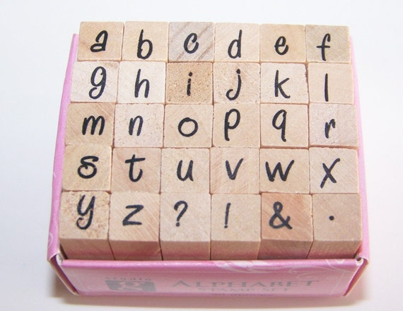 Alphabet stamp set by Studio G.