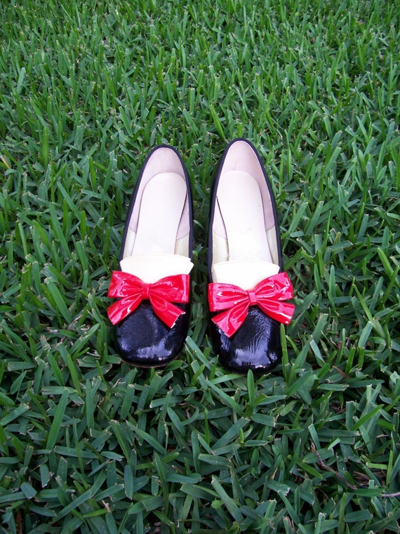 adorable black and red patent leather