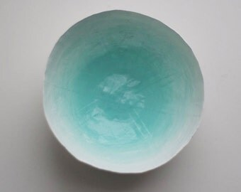 Aqua Paper Bowl