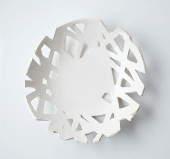 Small White Cutaway Dish