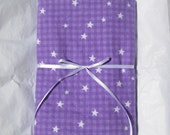 Stars and Stripes on Purple Swaddling Blanket