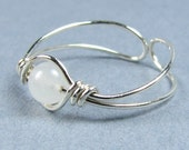 Sterling Silver Toe Ring Choice of Gemstone or Crystal Bead