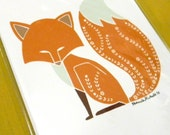Foxy Fox - 5x7 print - unframed