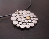 Organic One Cobblestone Necklace in Sterling and 22K Gold