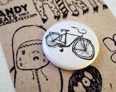Bike 1 inch pinback button FREE shipping