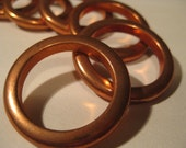 Copper Colored Rings Quantity of Seven Vintage