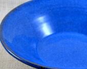 Large Blue Serving or Fruit Bowl