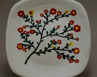 Colorful Hand Painted Decorative Ceramic Plate Free Shipping