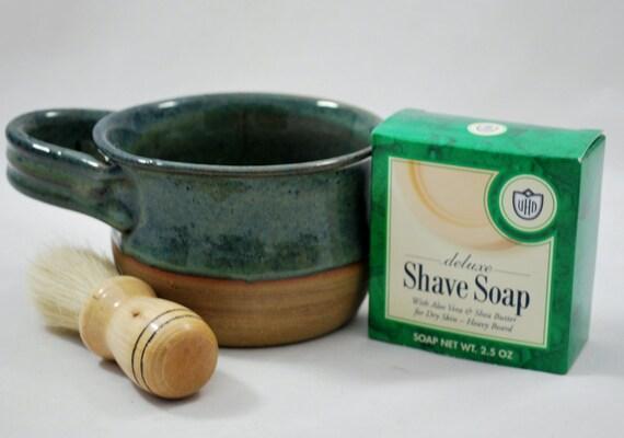 Men's Shave Mug, Gift for Him Wheel Thrown Stoneware Pottery