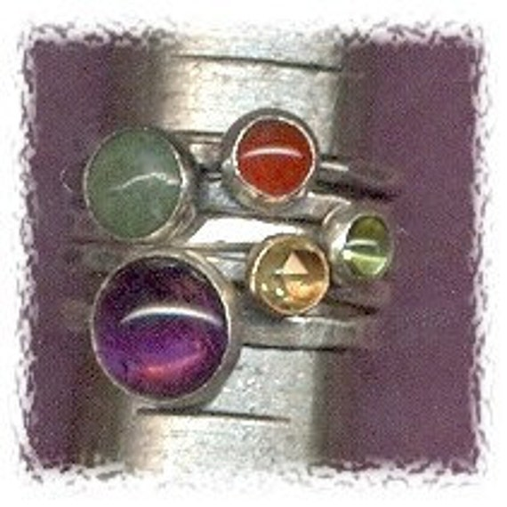 SET - Stacking Ring Set Colors of Autumn