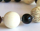 Sirocco Bracelet - Magnesite, Agate and Sterling Silver