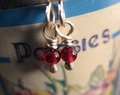 5 DOLLAR EARRING SALE - Wee Ones Garnet