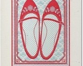Gocco Screen Print - 'Favourite Shoes'  - Limited Edition