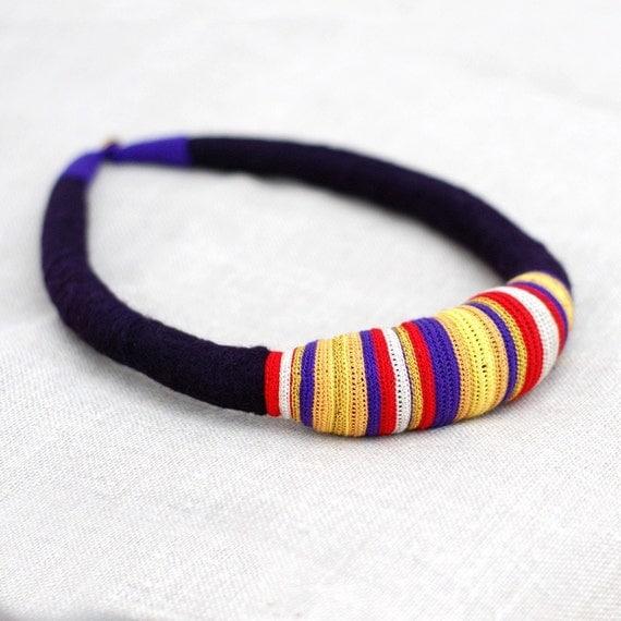tribal fiber necklace