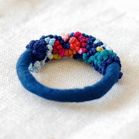 fiber multicolor bangle