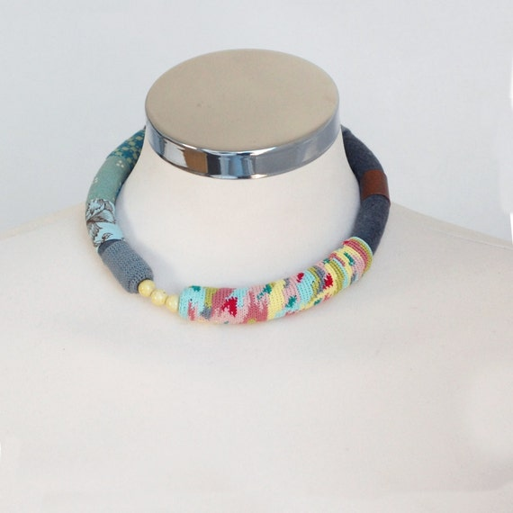 Bold statement choker in soft colors