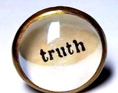 TRUTH Handcrafted Glass Art Ring Inspirational