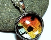 Real Butterfly Wing Necklace Sunset Moth Butterfly Jewelry SMALL SIZE PENDANT