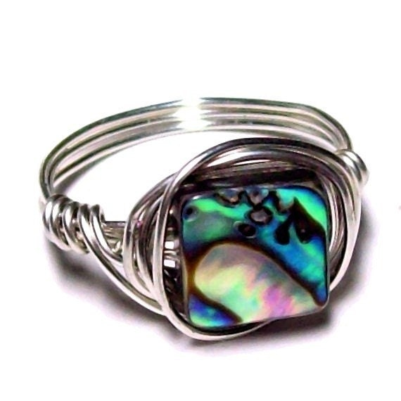 FIRST BEACH - Twilight Ring - Natural Abalone