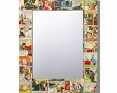 Comic decoupage mirror