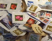 RESERVED for almontreal - 2 oz of Used POSTAGE STAMPS
