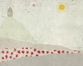 little home -  - Children Wall Art - digital Illustration - Nursery Art Print - Baby Wall Decor - Poster - Landscape - Pattern - Boy - Girl