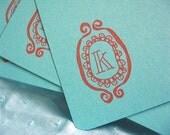 Set of 4 Monogrammed Flats - K