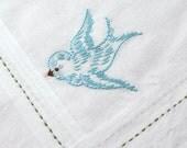 blue bird - hanky