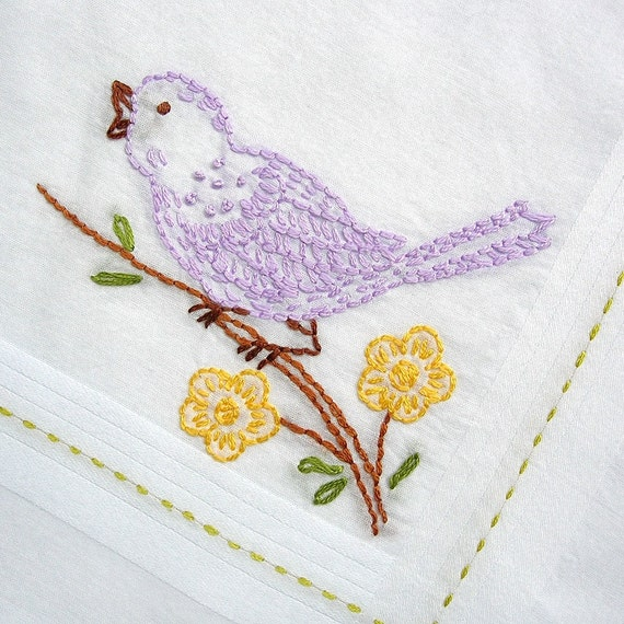 singing bird - handkerchief